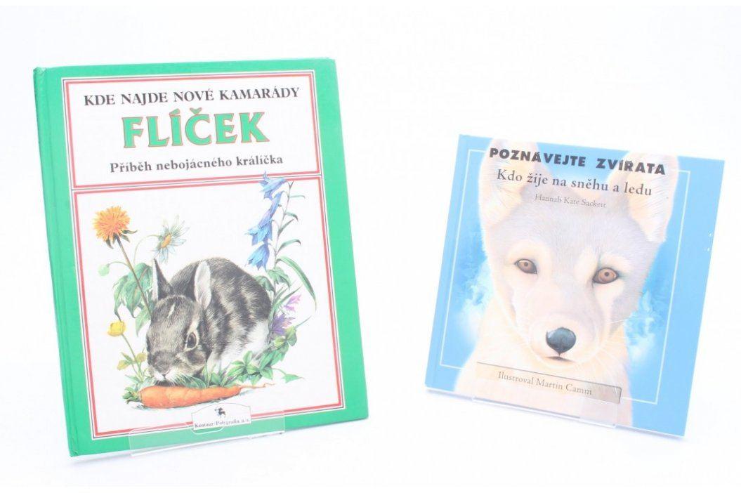 2 knihy: Flíček, Poznávejte zvířata Knihy