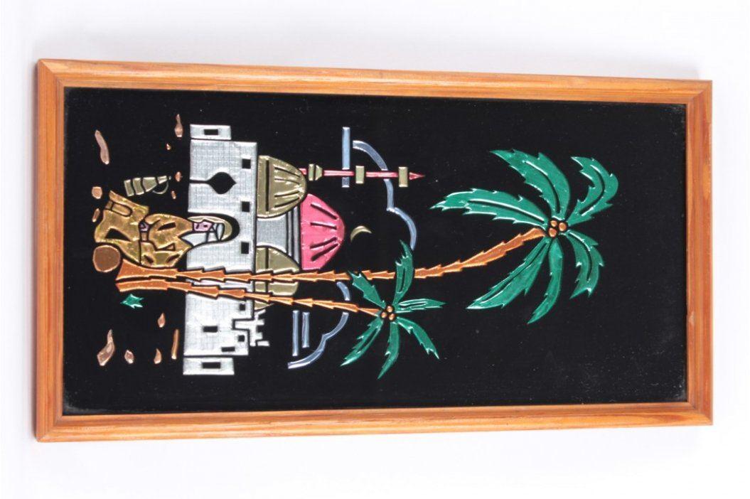 Dřevěný akvarel na pověšení Obrazy a plakáty