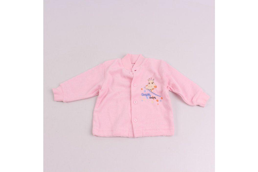 Dětská košilka AMARO růžová s motivem žirafy