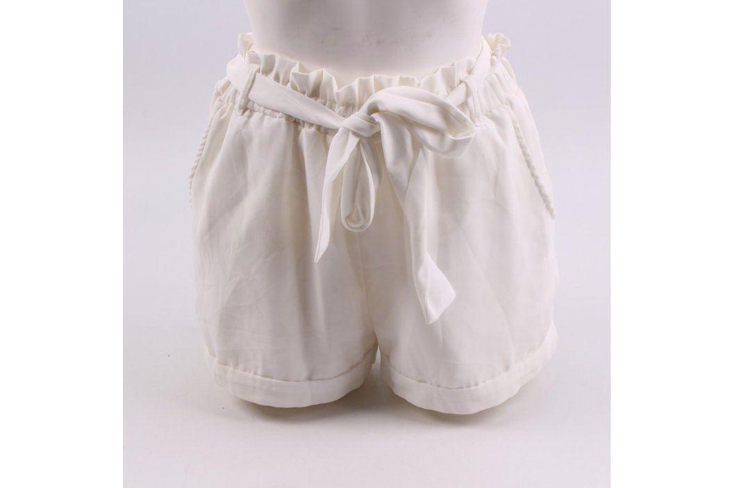 Dámské šortky Amisu bílé s páskem