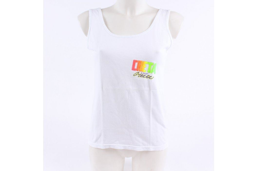 Bílé letní tílko s nápisem CRETA Greece Dámská trička a topy