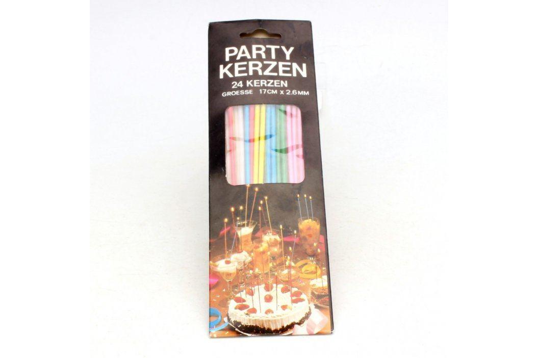 Svíčky barevné na party 24 ks
