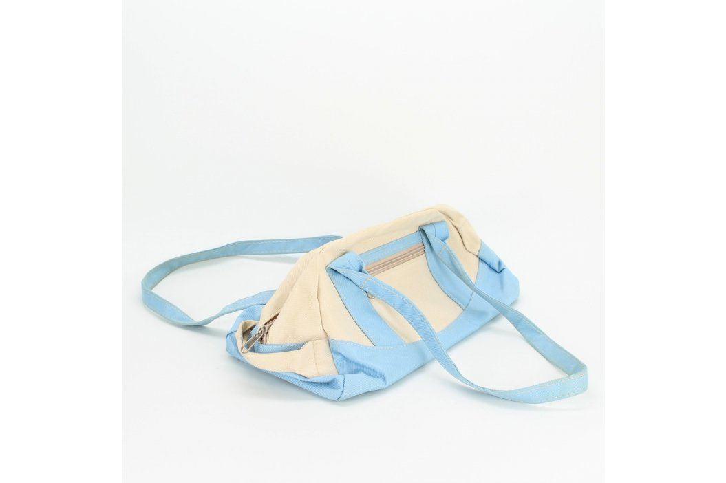 Dámská kabelka modro bílé barvy