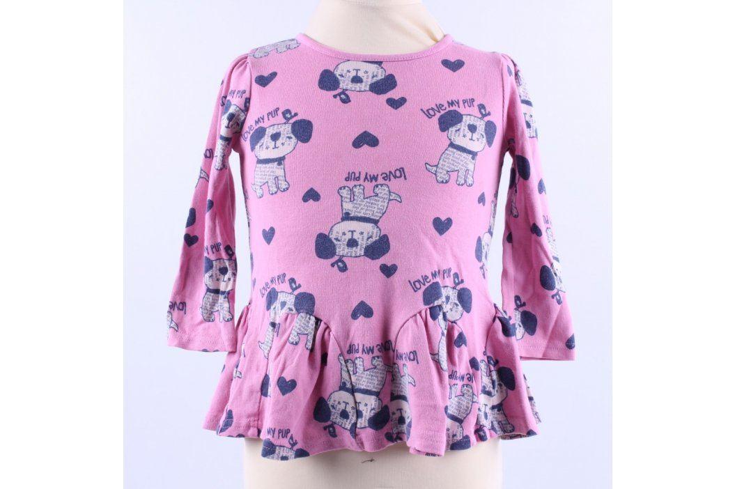 Dětské šaty George růžové barvy s pejsky