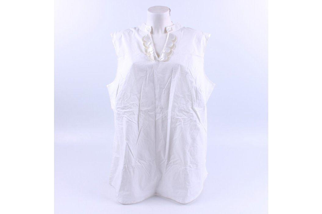 Dámská košile bez rukávu Dress in bílá Dámská trička a topy