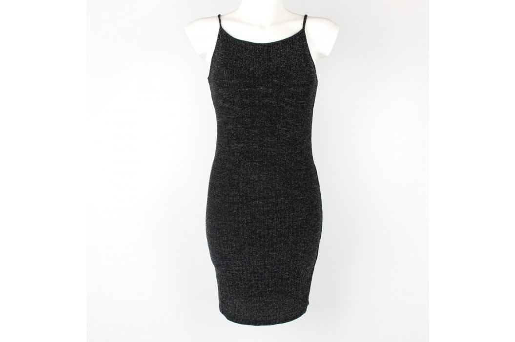 Dámské mini šaty Eg černé na ramínka