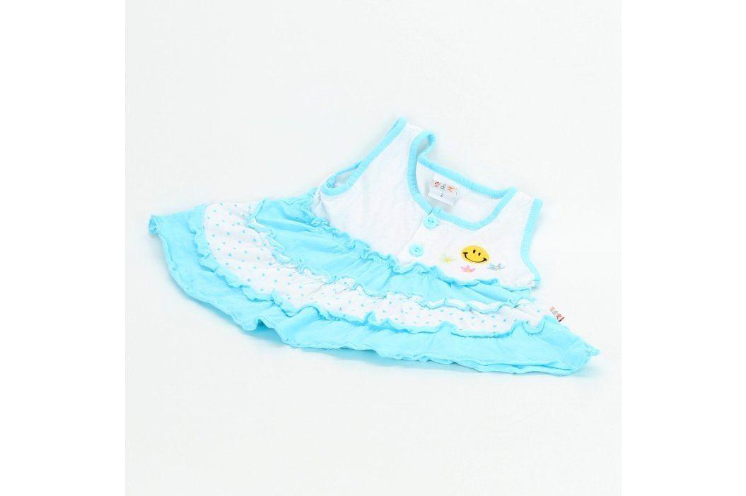 Dětské šaty V&K bílo modré Kojenecké oblečení