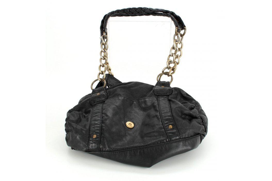 Dámská kabelka černá se zlatými řetězy Kabelky