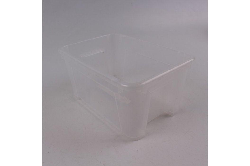 Úložný box průhledný plastový 25 x 13 x 14  Úložné boxy