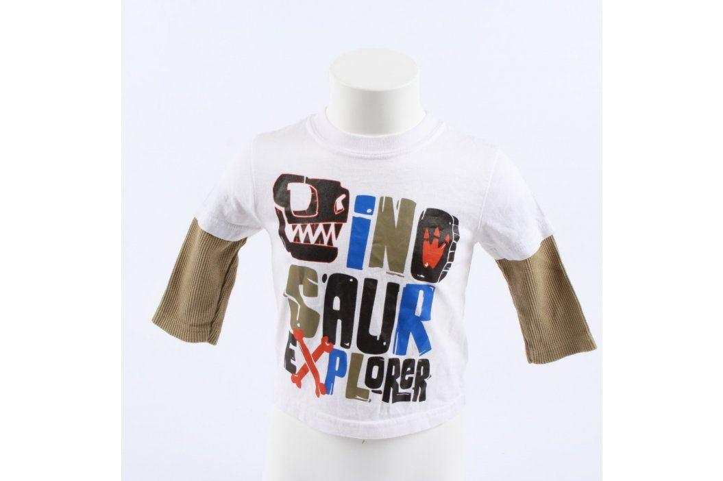 Dětské tričko Garanimals bílé s nápisem Dětská trička a košile