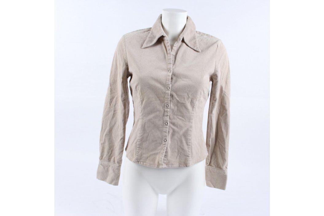 Dámská košile Amisu odstín béžové Dámské halenky a košile
