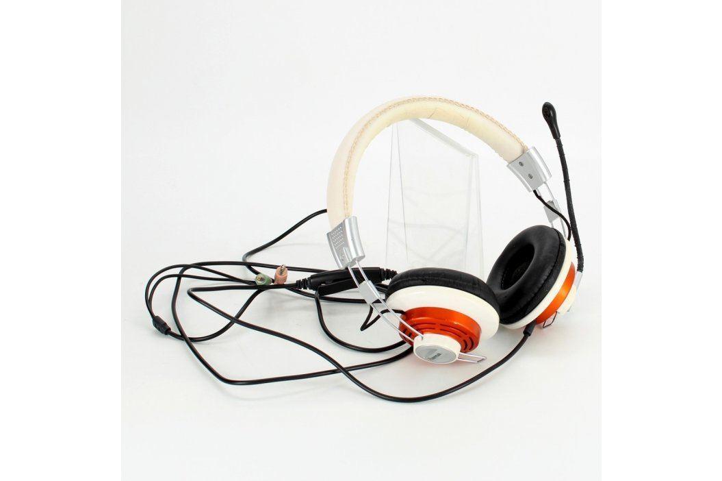 Náhlavní sluchátka Hama 00051619 bílá Sluchátka