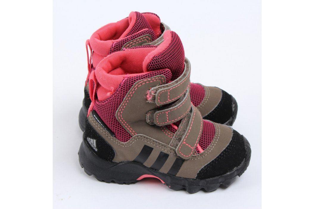 Dětské sněhule Adidas hnědorůžové Dětská obuv