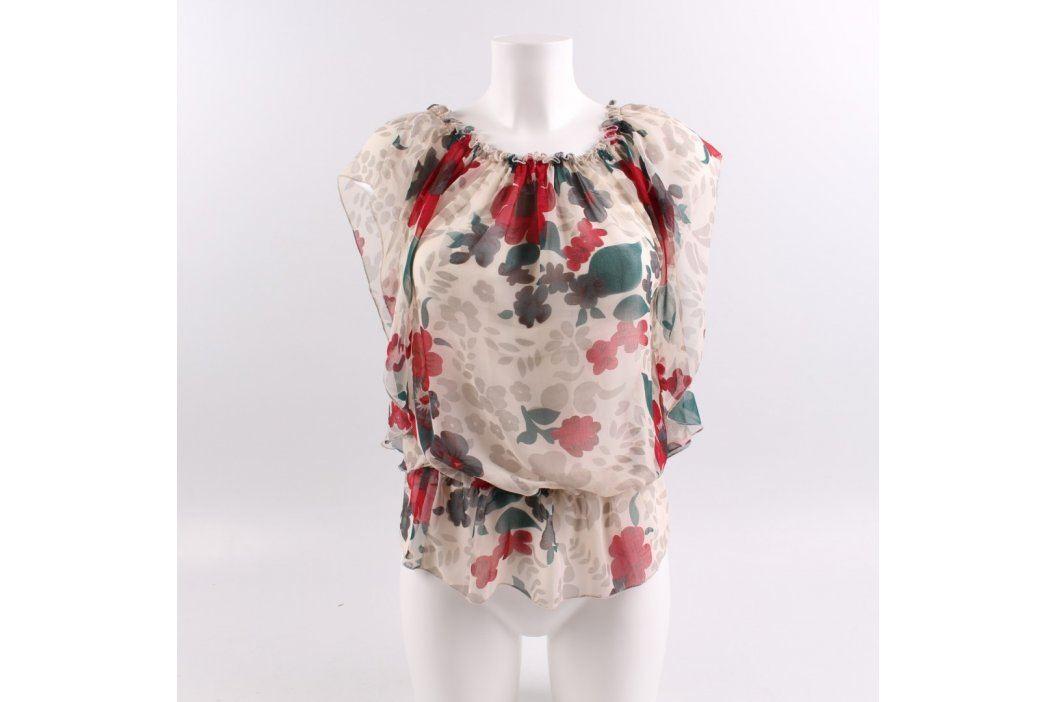 Dámská halenka s rudými květy Dámské halenky a košile