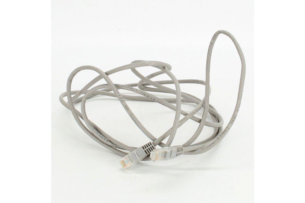 Propojovací UTP kabel RJ45 šedý délka 300 cm Síťové kabely