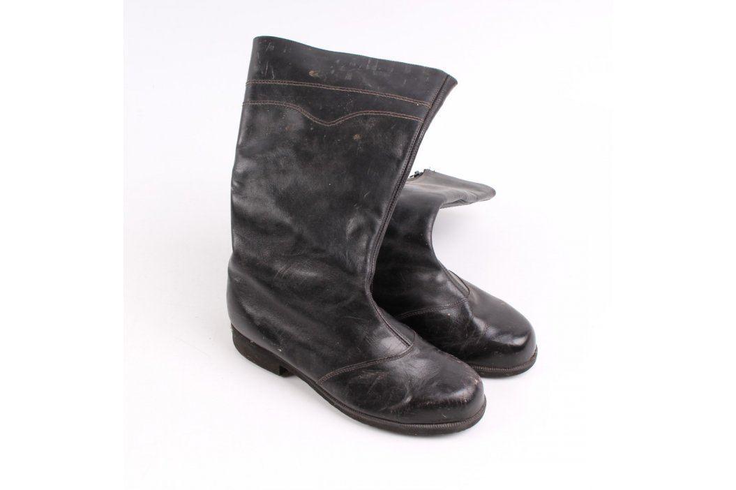 Dámské kozačky s kožíškem černé Zimní obuv