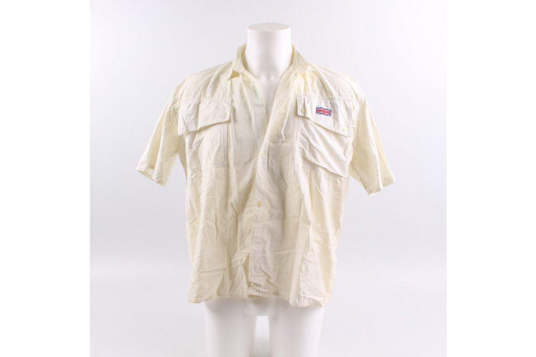 Pánská košile s krátkým rukávem žlutá Pánské košile