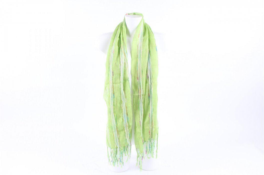 Dámský dlouhý šál zelené barvy Šály a šátky