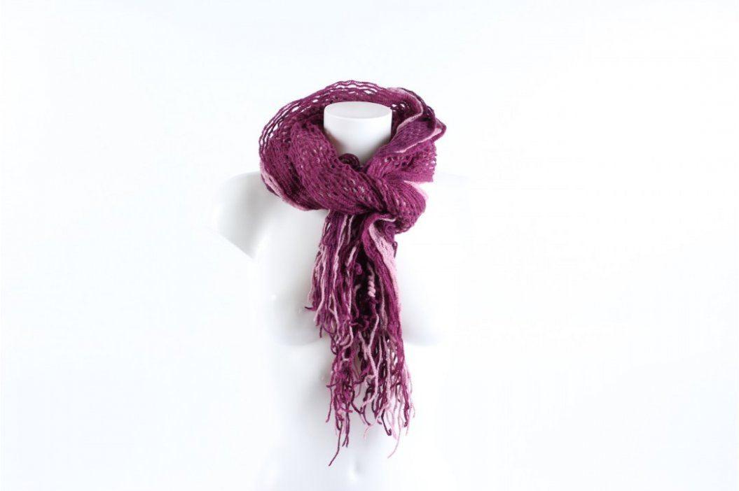 Dámská teplá šála fialové barvy Šály a šátky