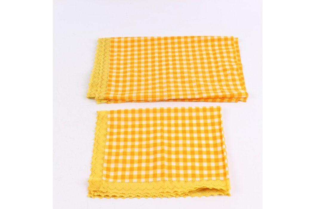 Dečky kostkované oranžovo-žluté Prostírání