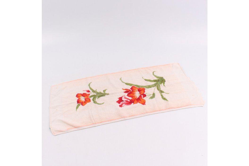 Ručník s květinami 70 x 32 cm Ručníky