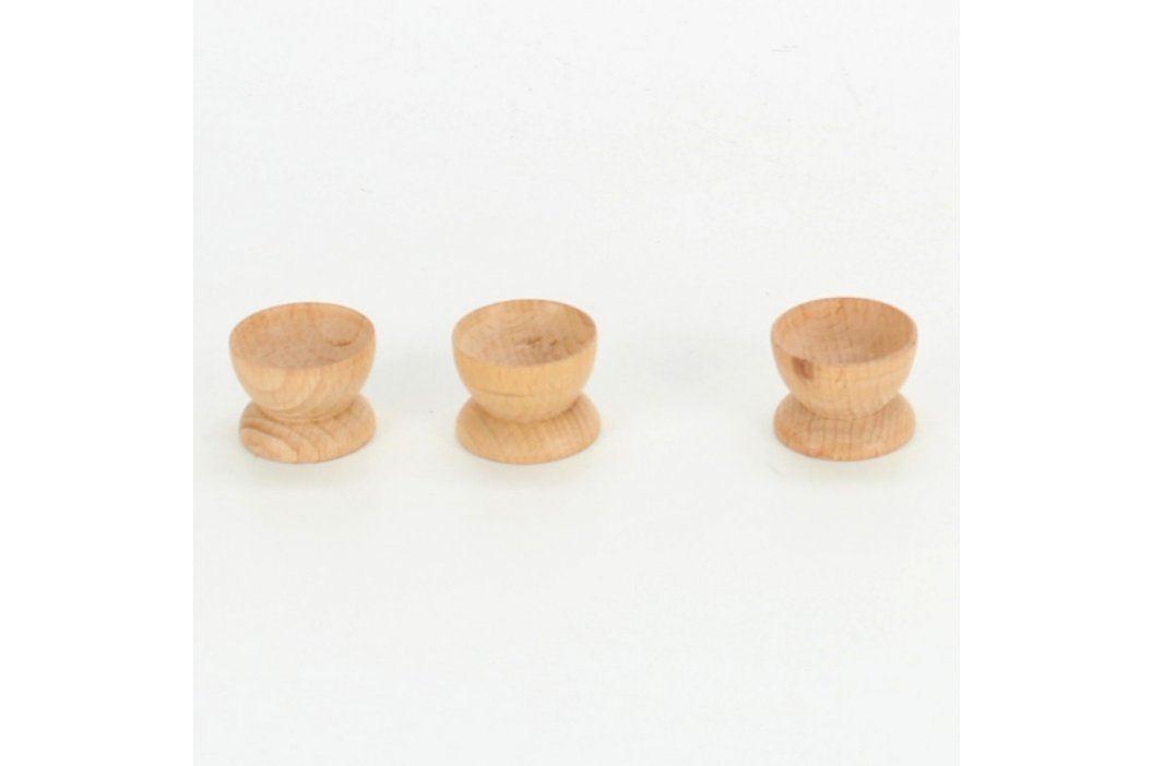 Sada 3 dřevěných mističek Misky a mísy