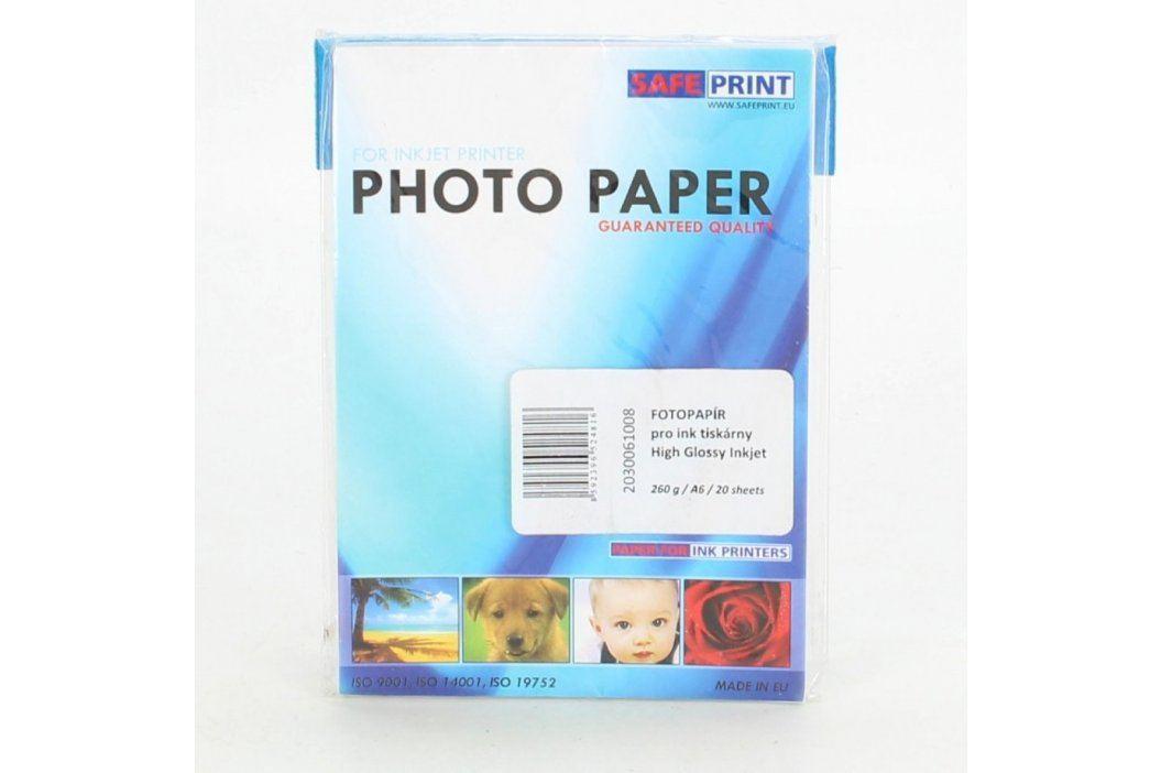 Fotopapír do tiskárny Safeprint 260 g A6 Fotopapíry