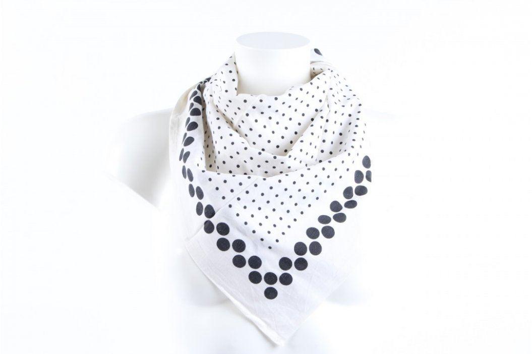 Dámský šátek puntíkatý dekor Šály a šátky