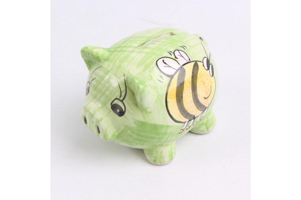 Kasička keramické prasátko s včeličkou Keramické dekorace