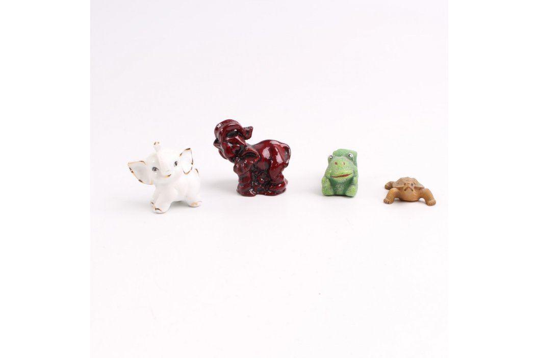 Keramické figurky zvířátek 4 ks Keramické dekorace