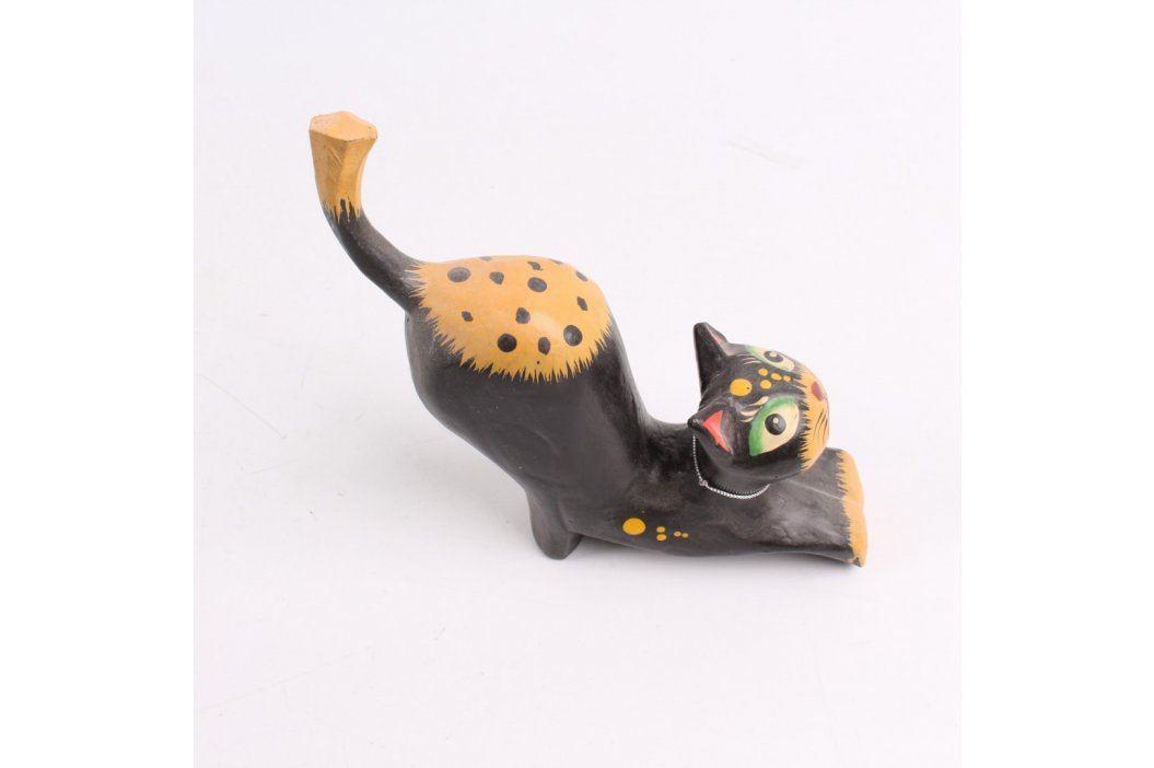 Dekorace dřevěná kočka s rolničkou Další dekorace