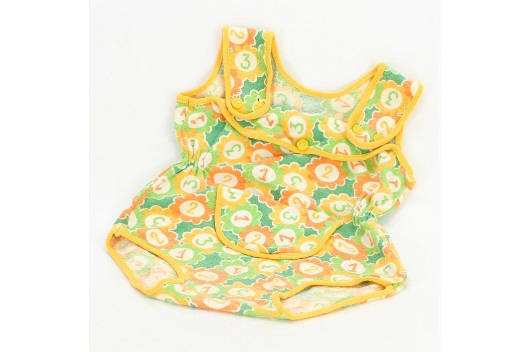 Dětské body žluté s kytičkami Kojenecké oblečení