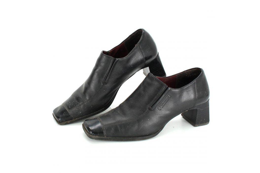 Dámské polobotky na širokém podpatku černé Společenská obuv