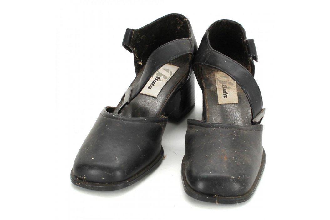 Dámské sandále Baťa černé barvy Společenská obuv
