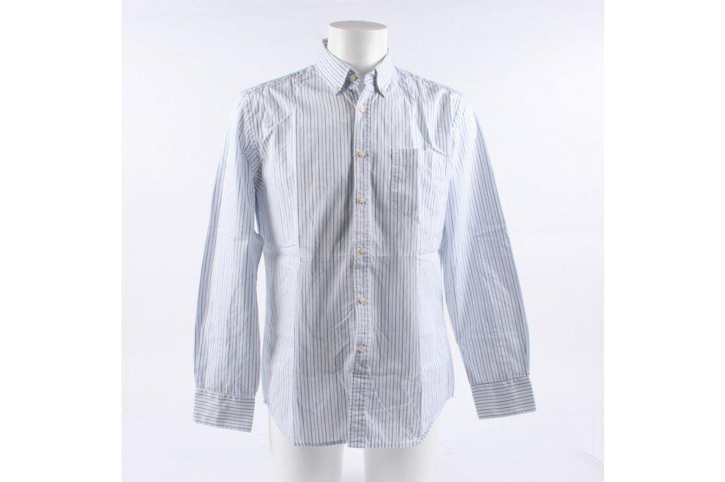 Pánská košile Reserved bílá s pruhy Pánské košile