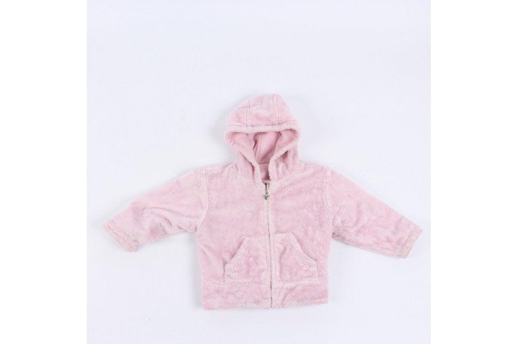 Dívčí chlupatá mikina Next odstín růžové Dětské mikiny a svetry
