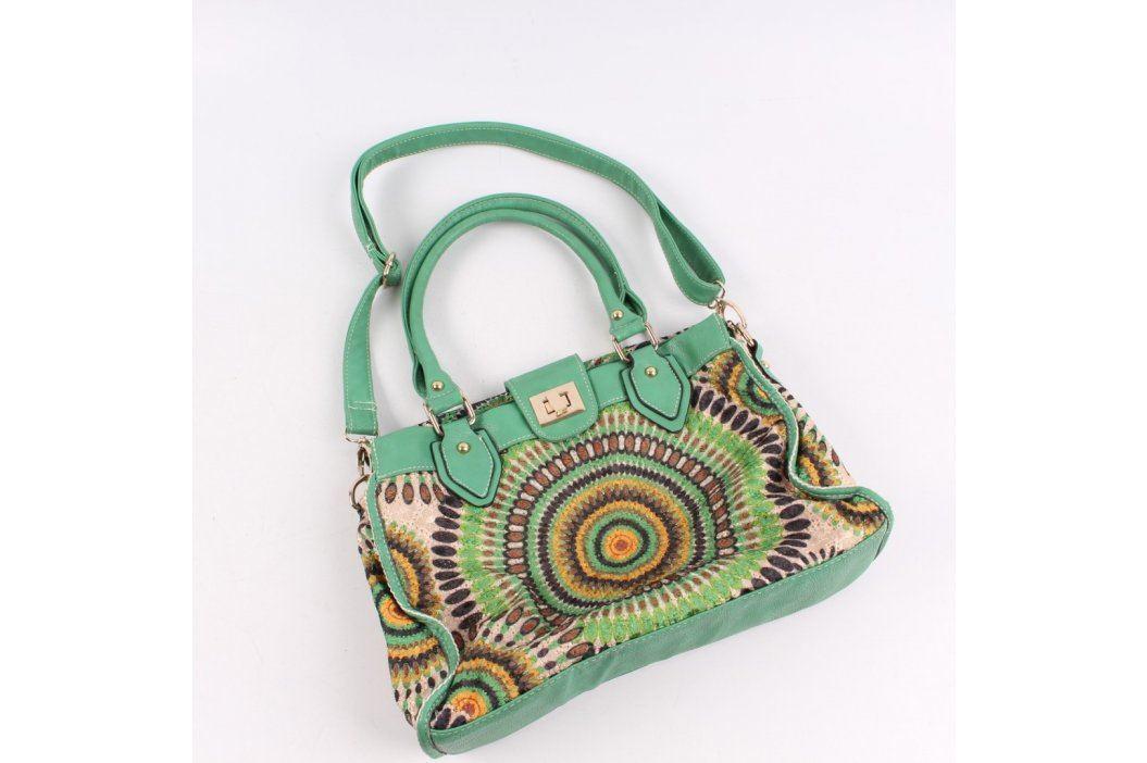Dámská kabelka Alessia zelená s ornamenty Kabelky