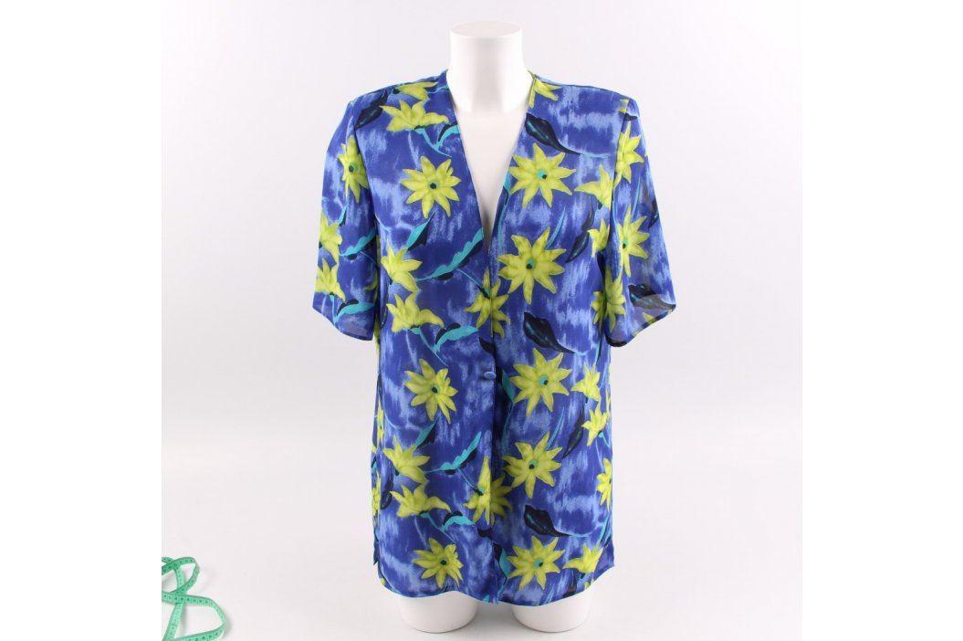 Dámská košile odstín modré s květinami Dámské halenky a košile
