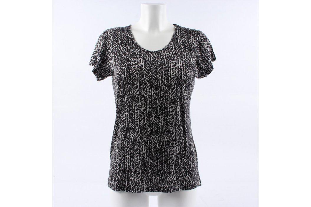 Dámské společenské tričko černobílé Dámská trička a topy