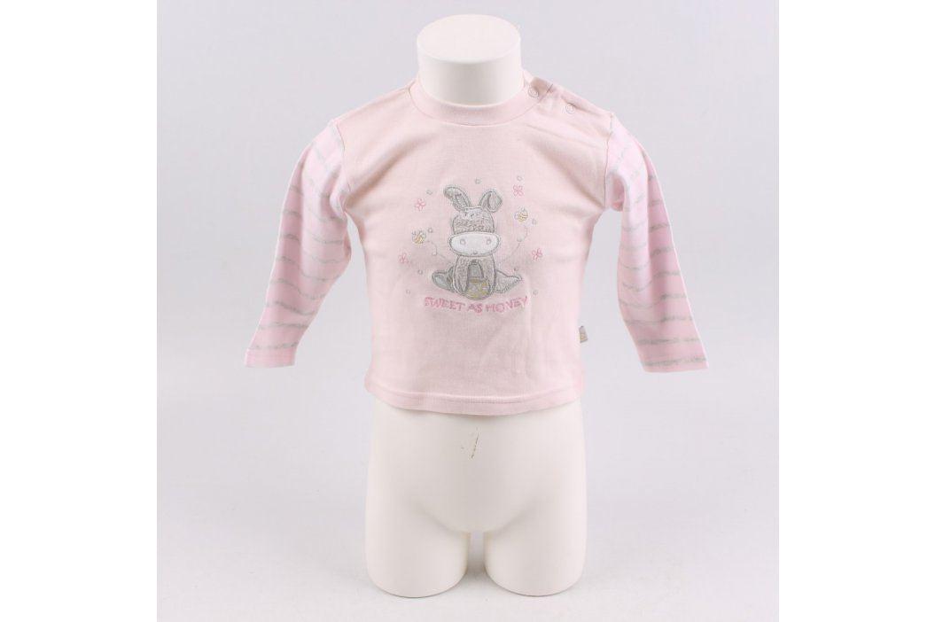 Dětské tričko Oimo růžové s oslíkem Kojenecké oblečení