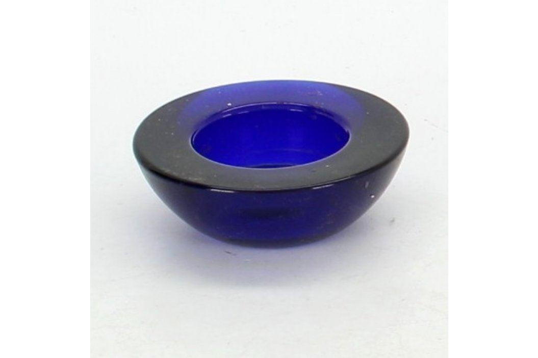 Malý stojánek na svíčku modrý Svícny a svíčky