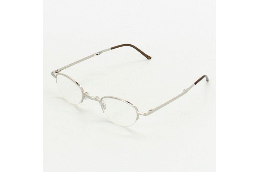 Dioptrické brýle stříbrné s pouzdrem Brýle a obroučky