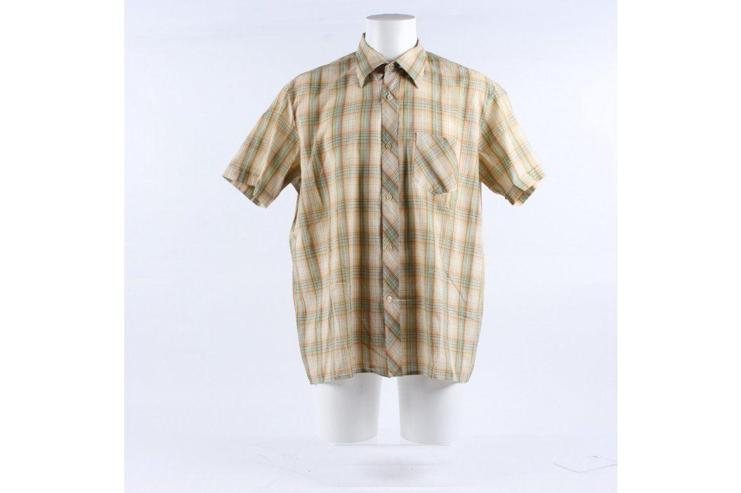Pánská košile Šohaj odstín hnědé a žluté Pánské košile