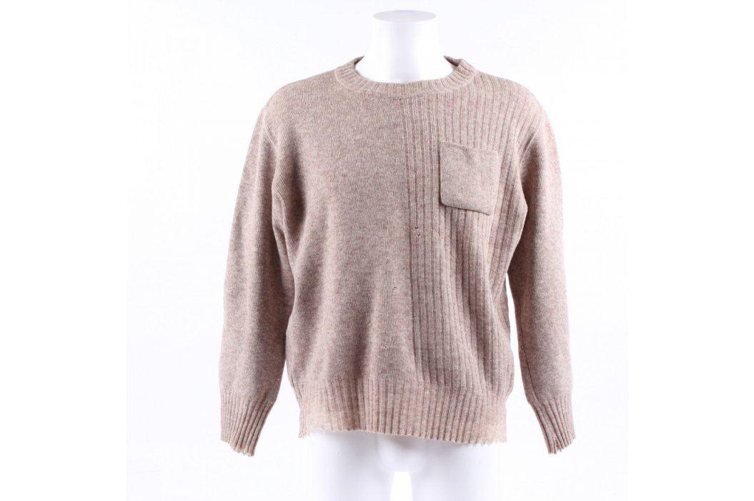 Pánský svetr s kapsičkou odstín hnědé Pánské svetry a roláky