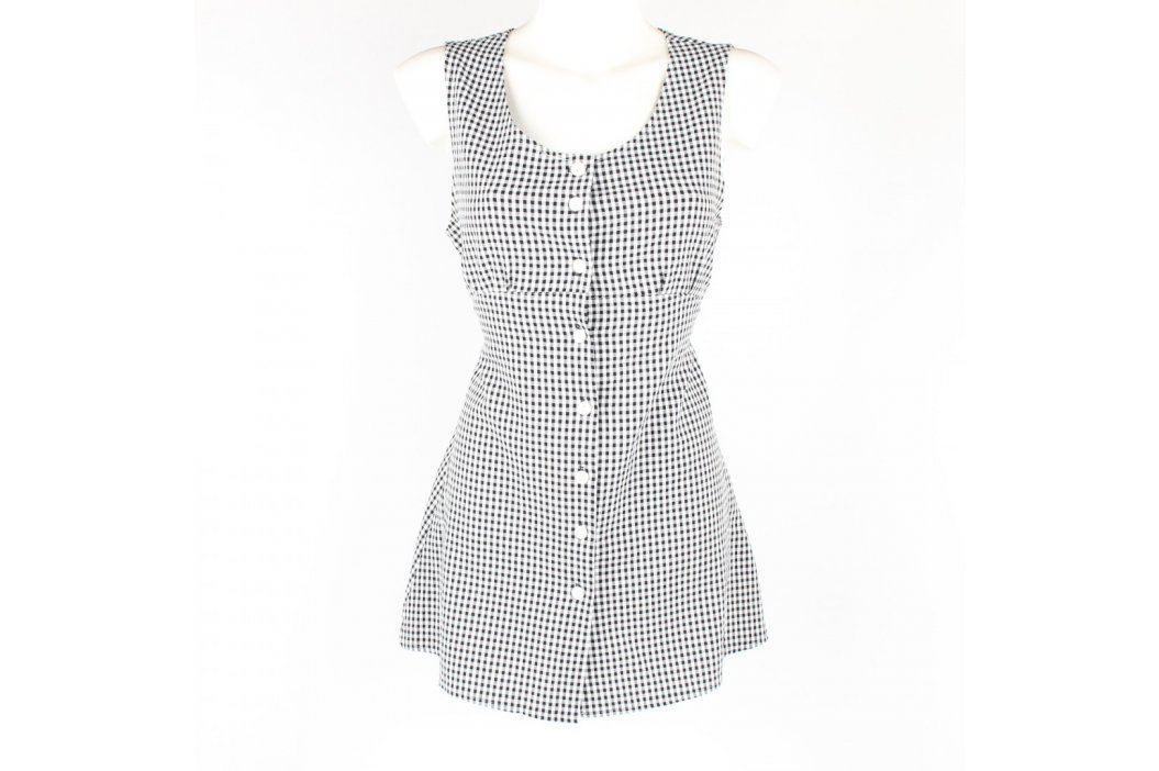 Dámské šaty černobílé kostkované Dámské šaty