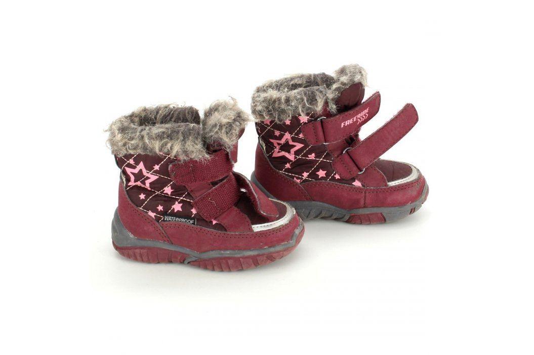 Dětské zimní boty Freeride vínové Dětská obuv