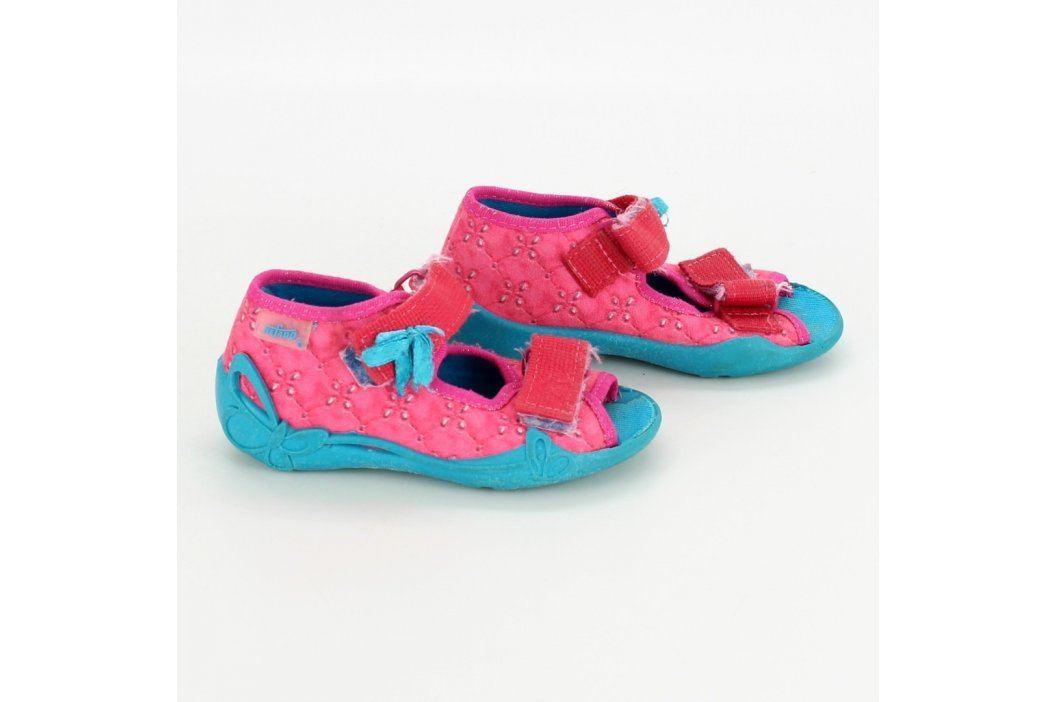 Dětské sandále Befado růžovotyrkysové Dětská obuv