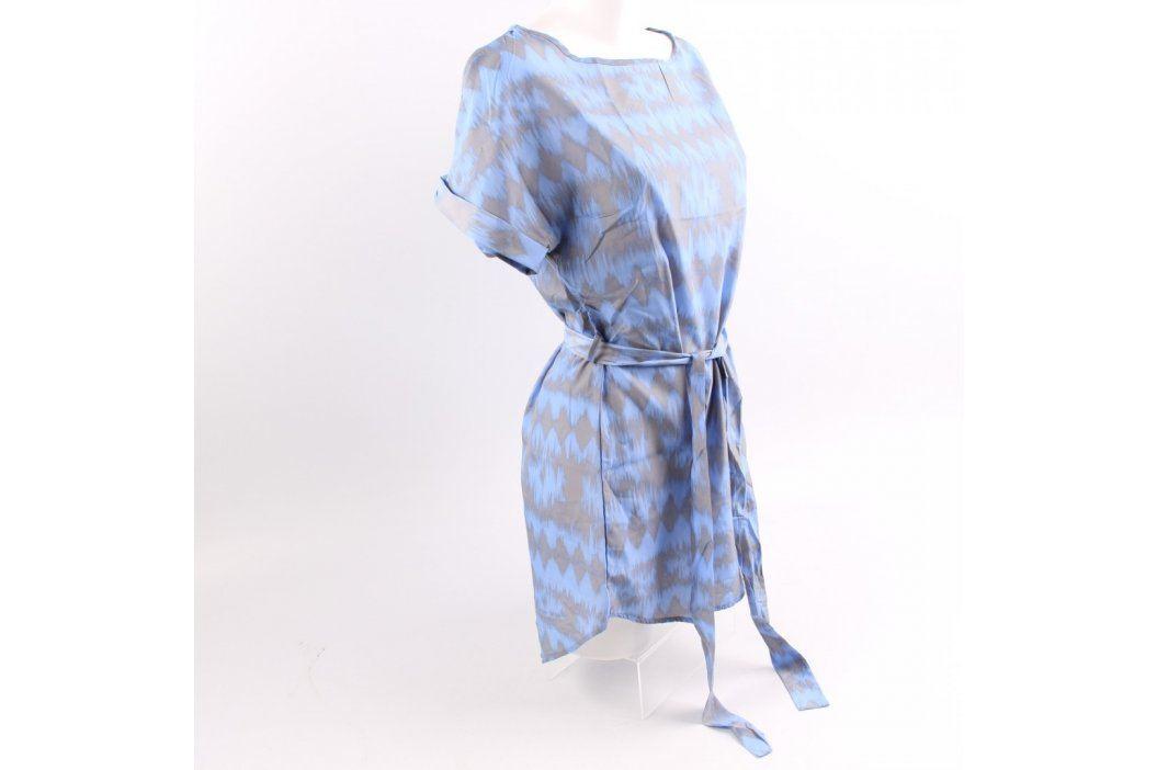 Dámská tunika modrá s šedými pruhy Dámská trička a topy