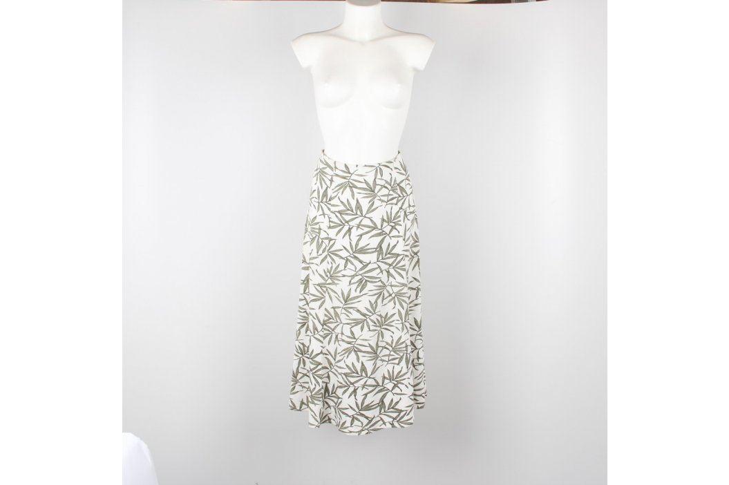 Dámská sukně Eastex bílá s šedými palmami Dámské sukně
