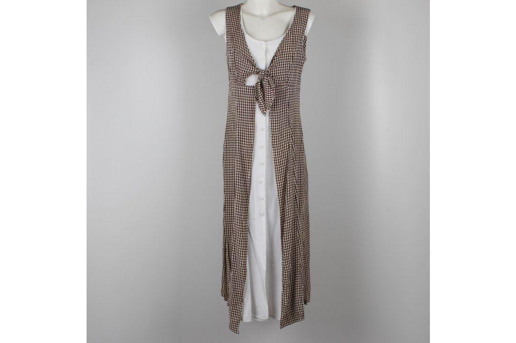 Dámské šaty bílé s dlouhou vestou Dámské šaty
